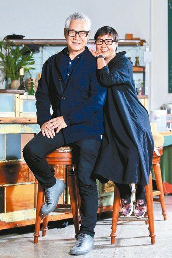 朱平與女友。 記者林伯東/攝影