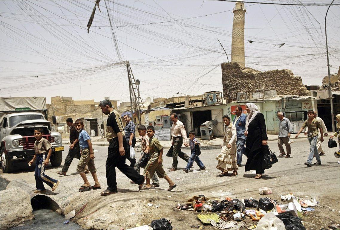 努里大清真寺被摧毀前兩周。 圖/美聯社