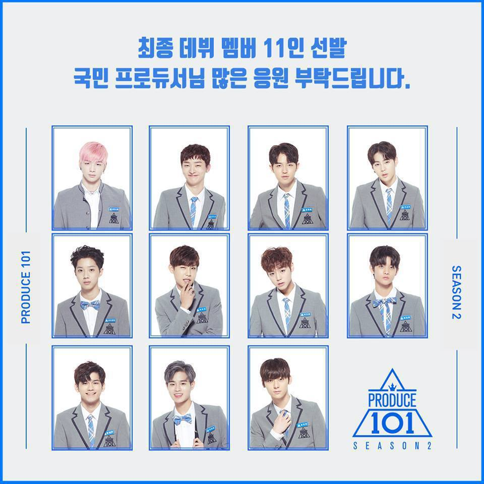 「Produce 101」選出11位出道成員。圖/摘自臉書