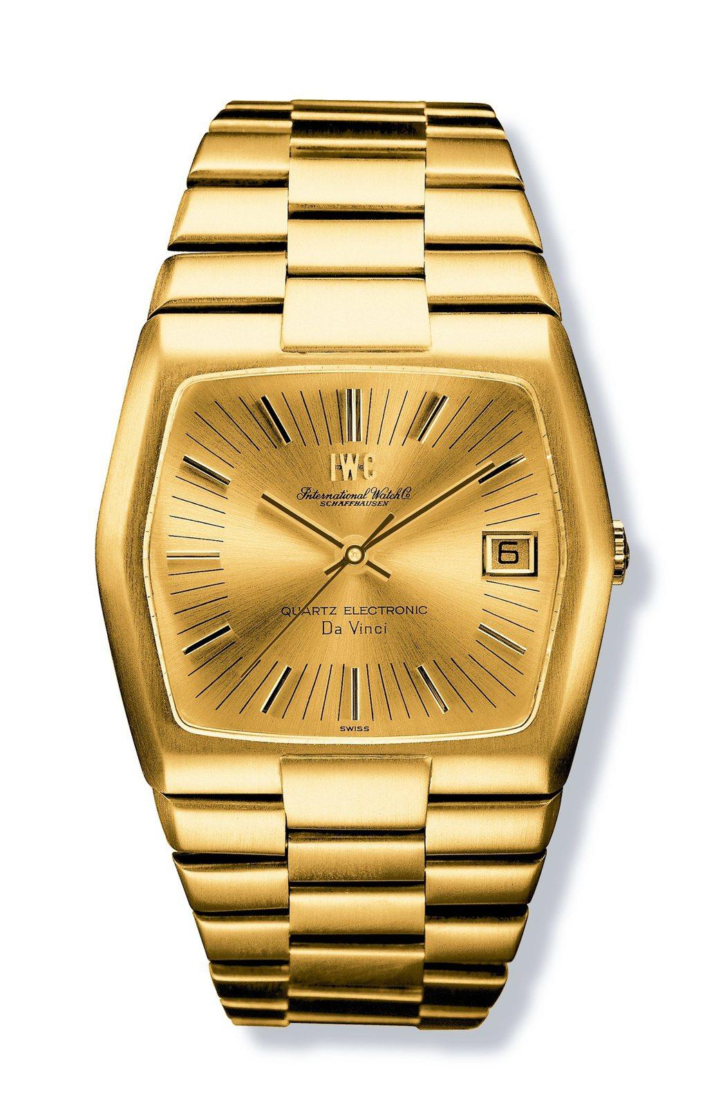 現在看起來還是很潮的1970年達文西石英電子腕錶。圖/萬國表提供