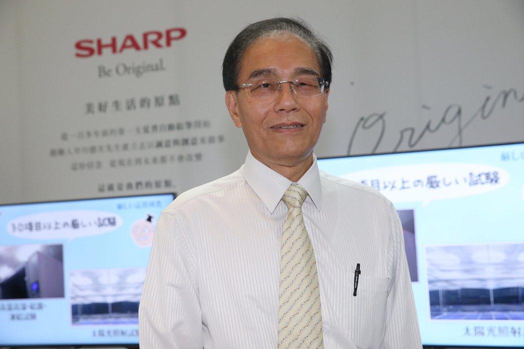 夏普社長戴正吳認為日本是自由貿易國家,政府不應干預東芝案。記者楊萬雲/攝影