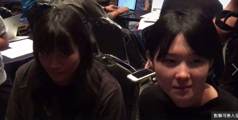 草東沒有派對鼓手凡凡(右)和吉他手筑筑。記者許晉榮/攝影