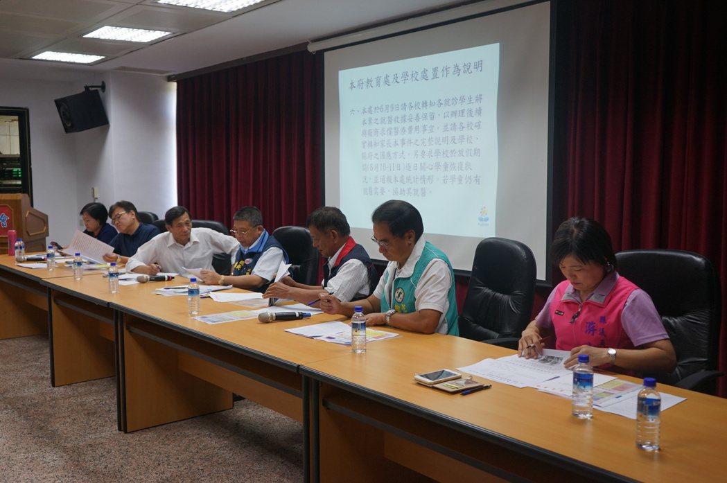 花蓮縣議會組成專案小組,多位議員關切學生午餐問題。記者王燕華/攝影