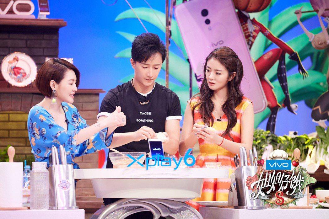 韓庚和安以軒上姐姐好餓。圖/愛奇藝提供