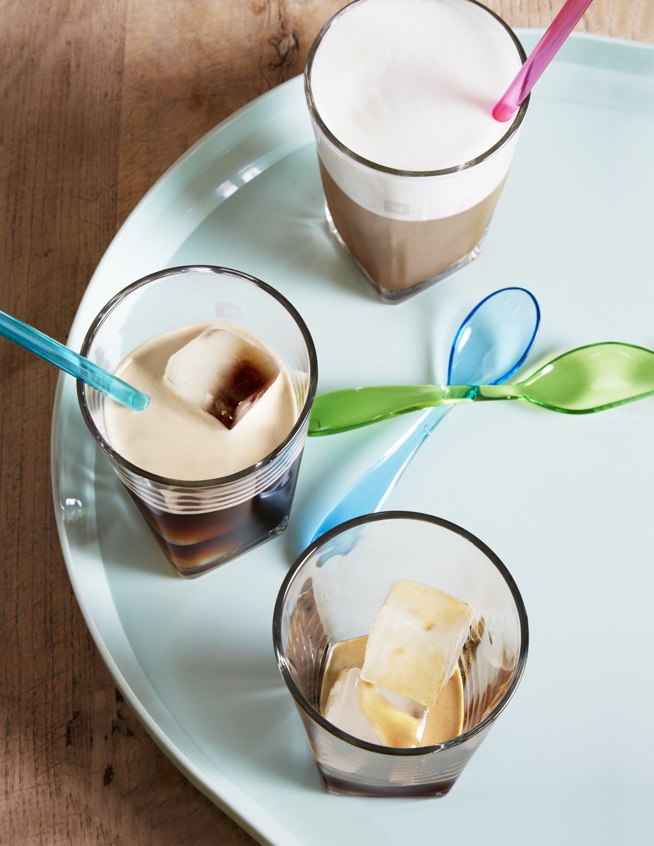 Nespresso推出夏季限量款冰咖啡,在家就能享受。圖/Nespresso提供
