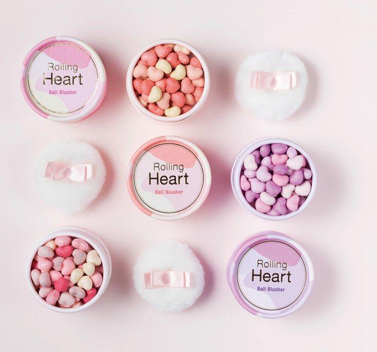MISSHA心心相印腮紅球結合4種色系的愛心球。圖/摘自韓國MISSHA官網