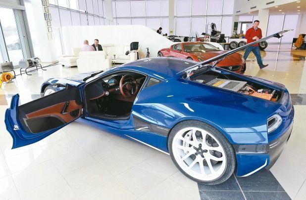 雷馬克工廠與展示間展出電動超跑「概念一號」(Concept One)。 法新社