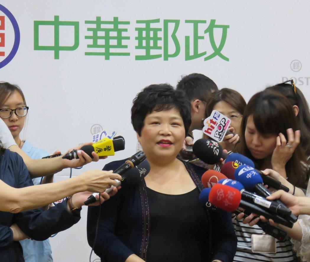 中華郵政發言人藍淑貞宣布8月1日的郵資調漲案。記者雷光涵/攝影