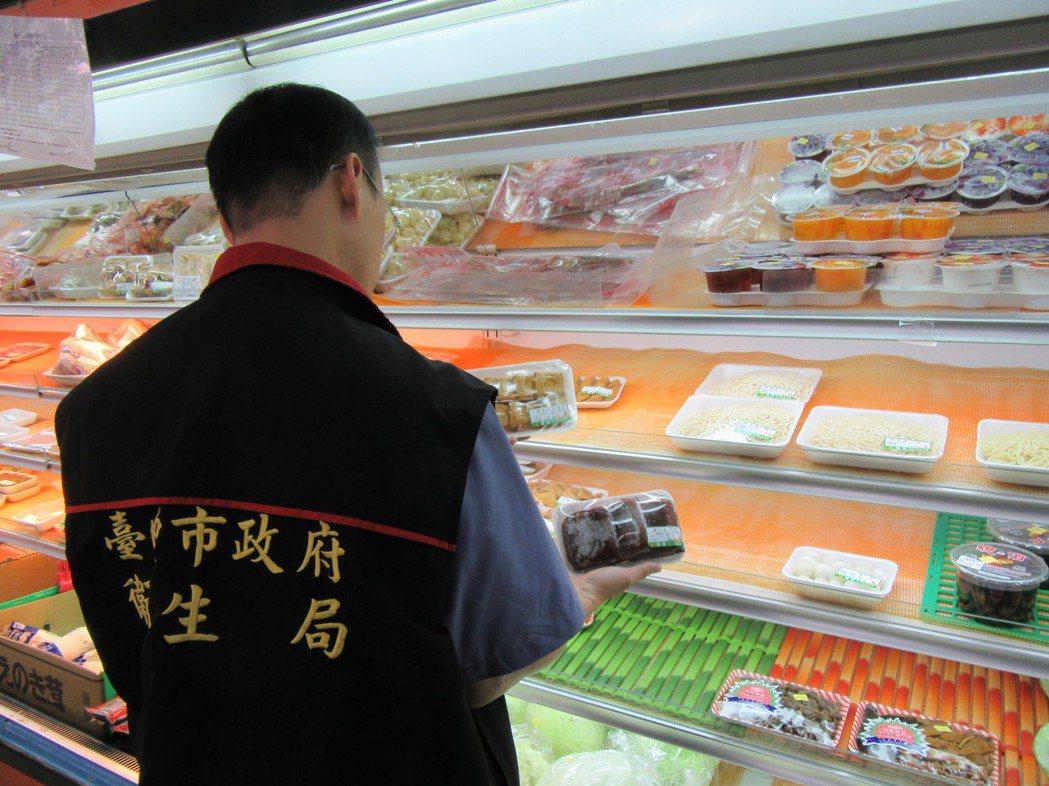 台中市衛生局抽檢市售未調味豆乾,共6件不合格。圖/台中市衛生局提供