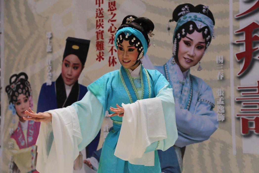 「五女拜壽」中飾演女主角的張孟逸。記者余采瀅/攝影