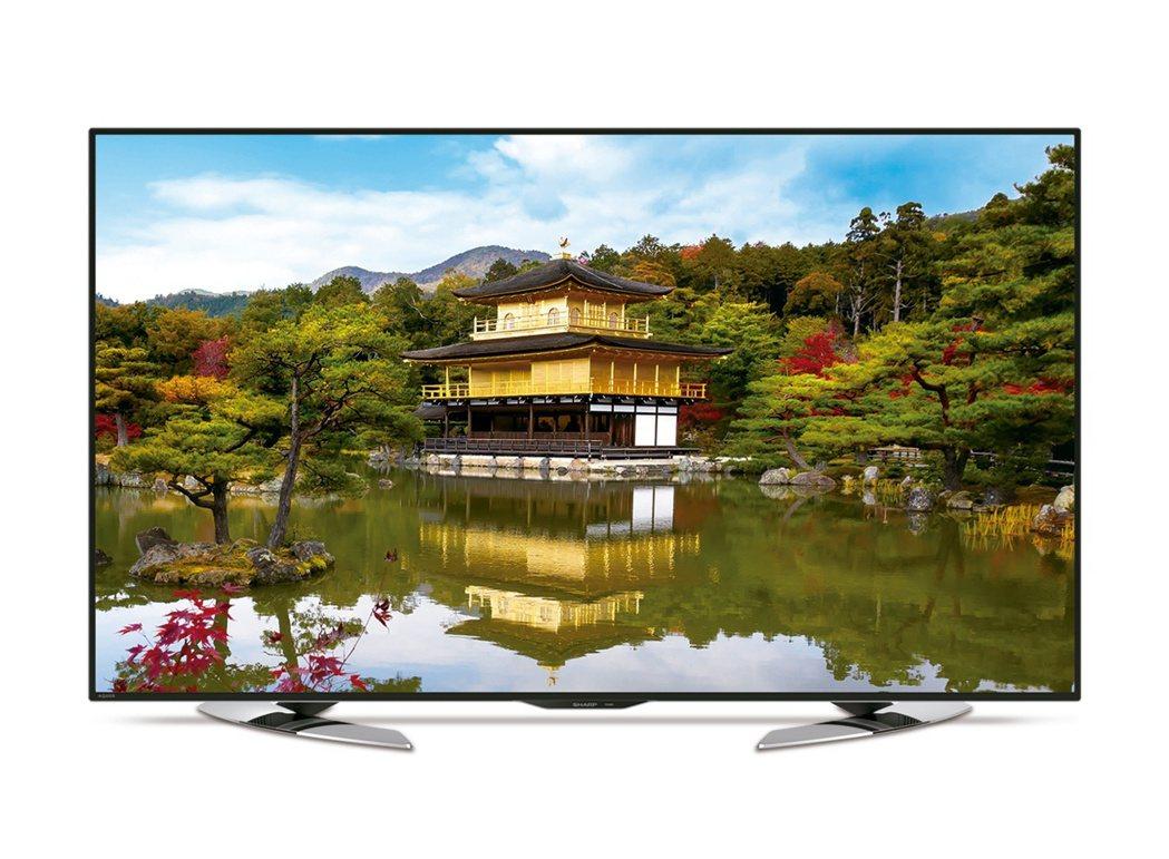 台灣夏普7月舉辦萬元好禮買就送活動,買60吋UHD電視系列送32吋電視。圖/台灣...