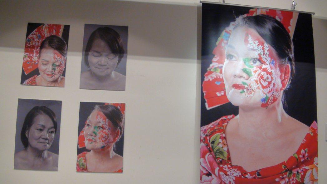 彩繪師馬家駒為顏損者做的彩繪。記者楊濡嘉/攝影