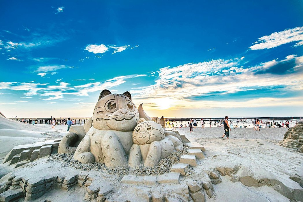 今年暑期即將舉辦的大安沙雕音樂季,現場將有22座沙雕作品展示。 圖/台中市觀旅局...