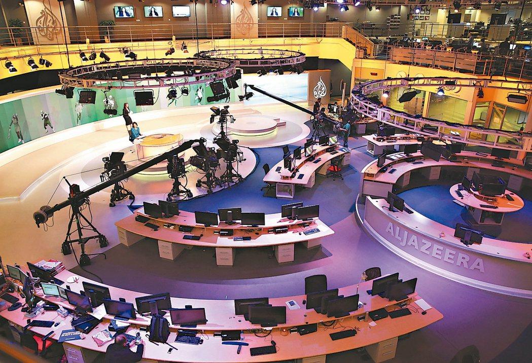 被沙烏地阿拉伯等四國要求關台的卡達半島電視台多哈總部。 (美聯社)