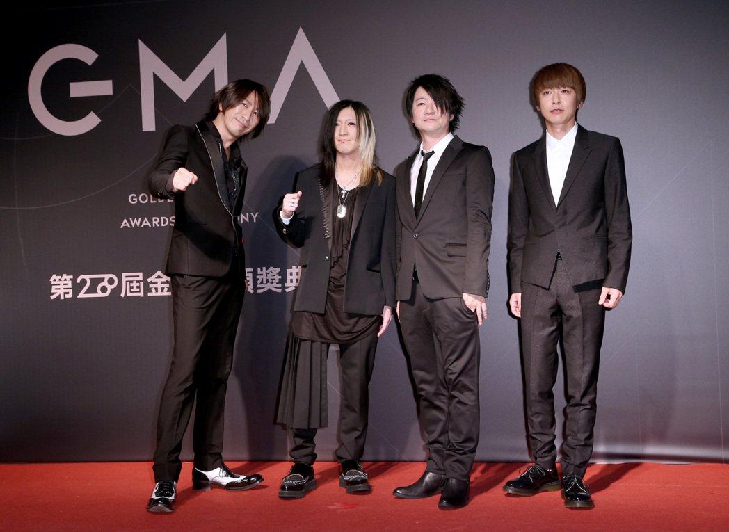 日本搖滾天團GLAY走星光大道。記者余承翰/攝影