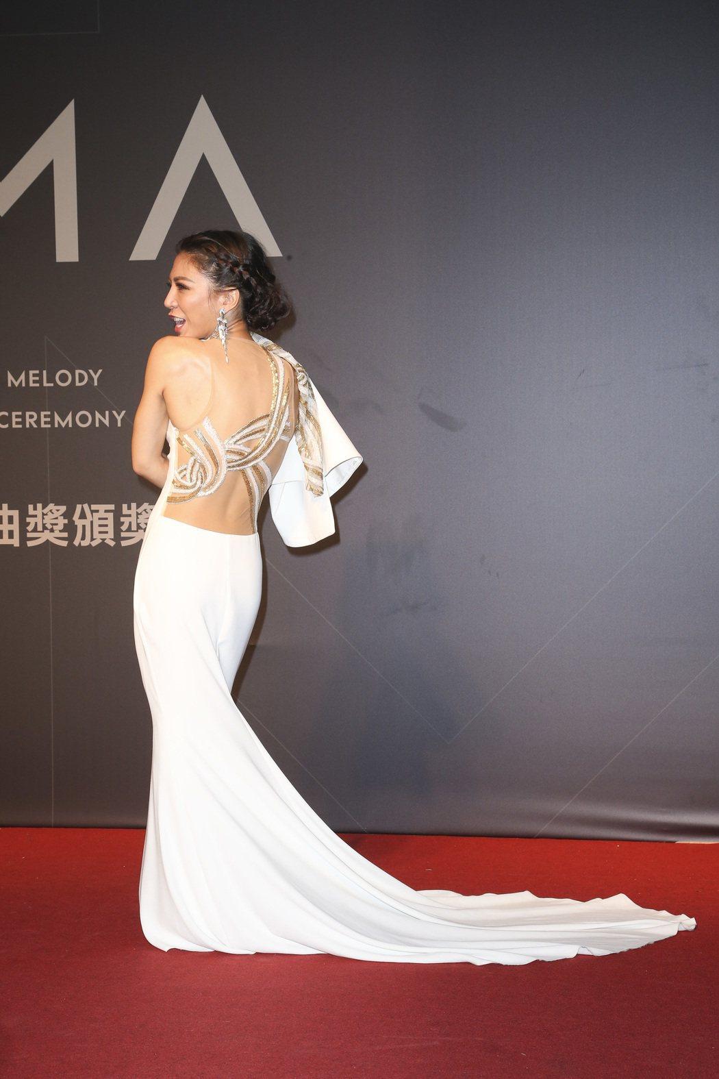 28屆金曲獎,艾怡良走星光大道。記者陳立凱/攝影 楊萬雲
