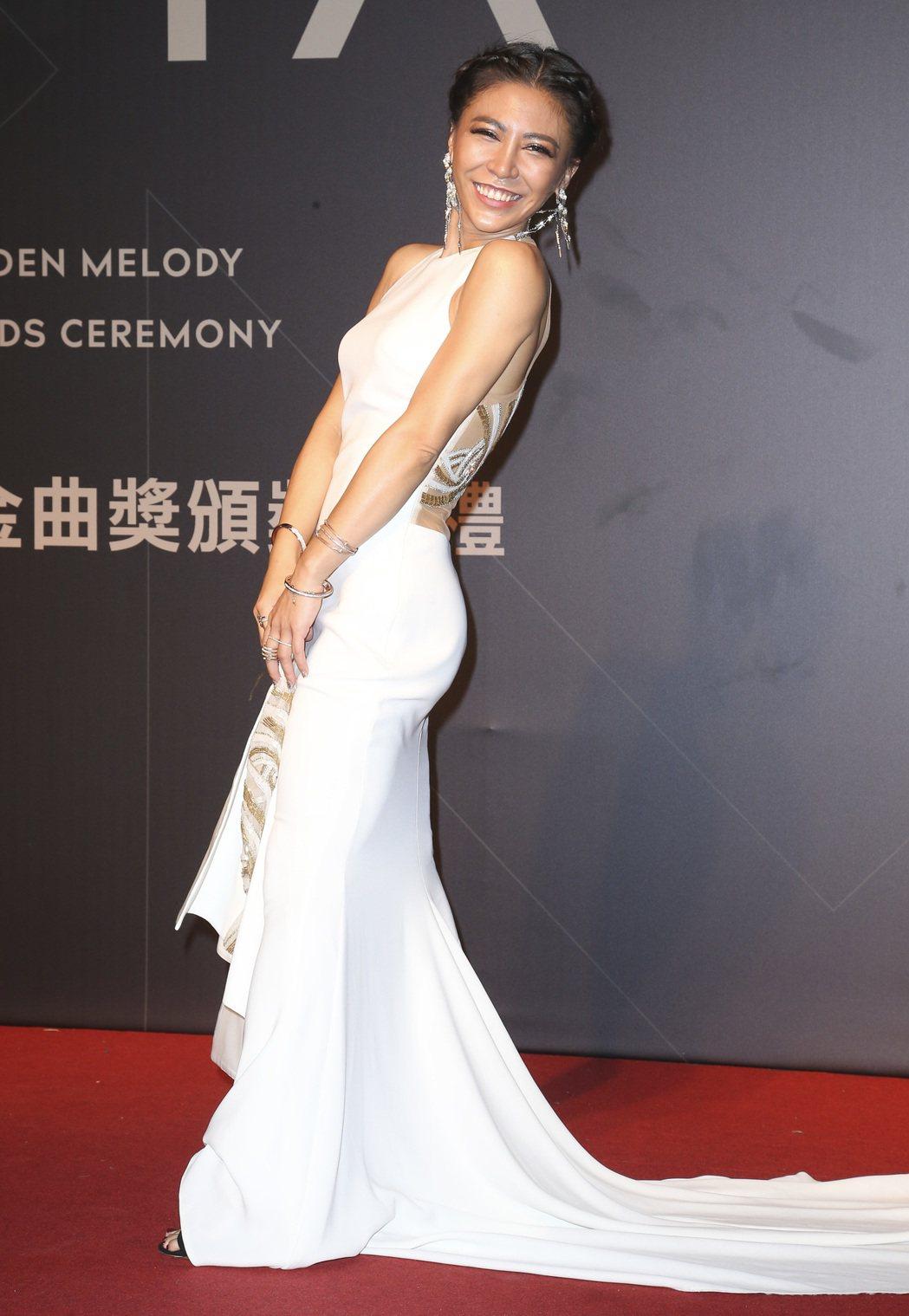 28屆金曲獎,艾怡良走星光大道。記者陳立凱/攝影