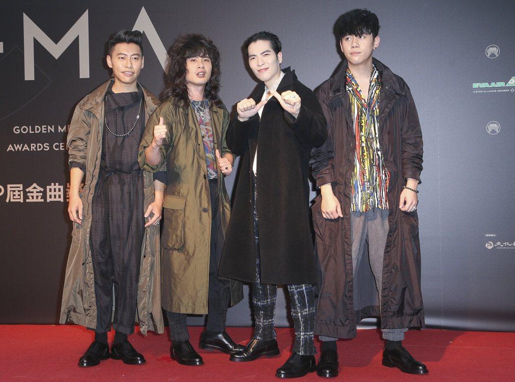 28屆金曲獎,獅子合唱團走星光大道。記者陳立凱/攝影