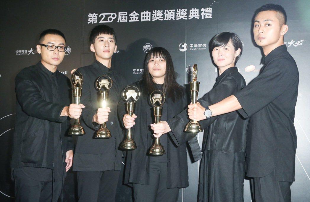草東沒有派對獲得最佳新人獎。記者黃威彬/攝影