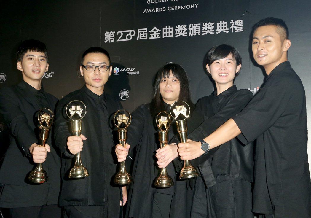 草東沒有派對的「大風吹」因「音樂豐富完整、新世代的代表」勝出。記者黃威彬/攝影