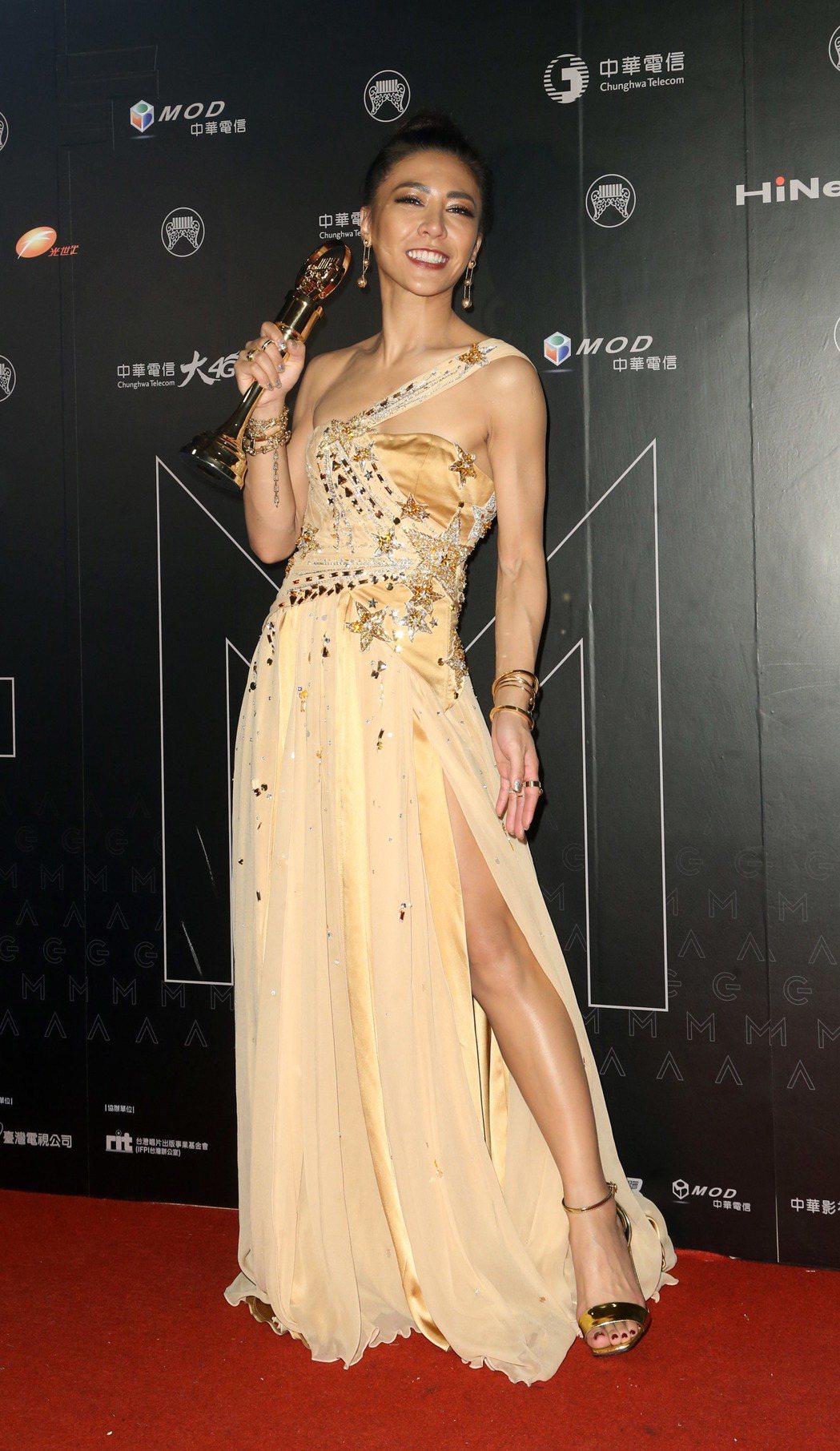 艾怡良獲得最佳國語女歌手獎。記者陳立凱/攝影