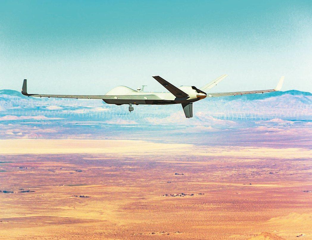 印度總理莫迪訪問白宮前夕,美國政府同意出售MQ-9B無人機給印度。 圖/取自通用...