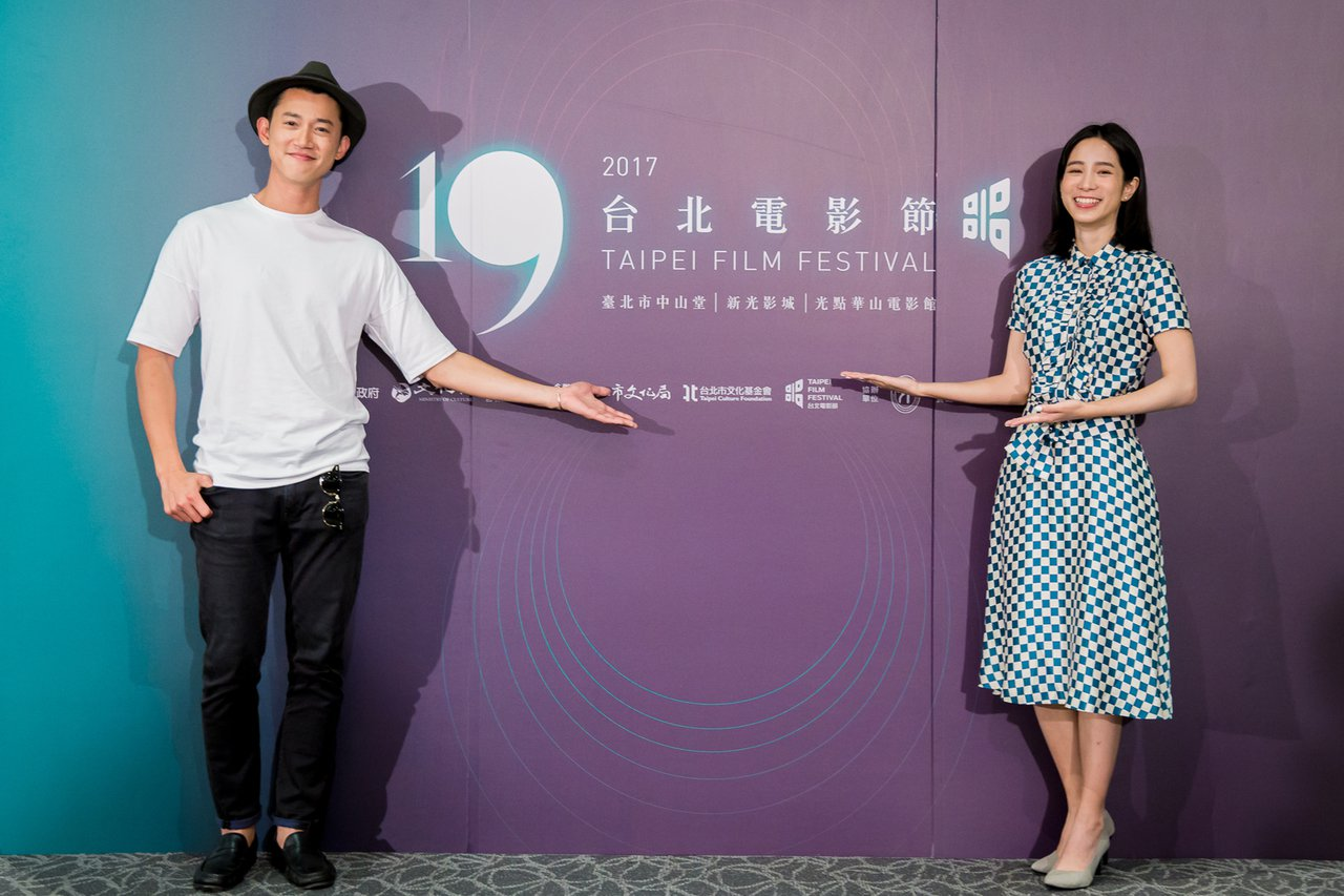 演員吳慷仁(左)、溫貞菱(右)擔任今年台北電影節大使。圖/中央社(台北電影節提供...
