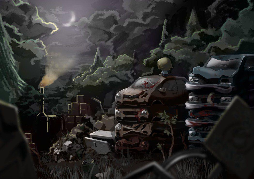 在宛如繪本般的幻想夜路中探索...