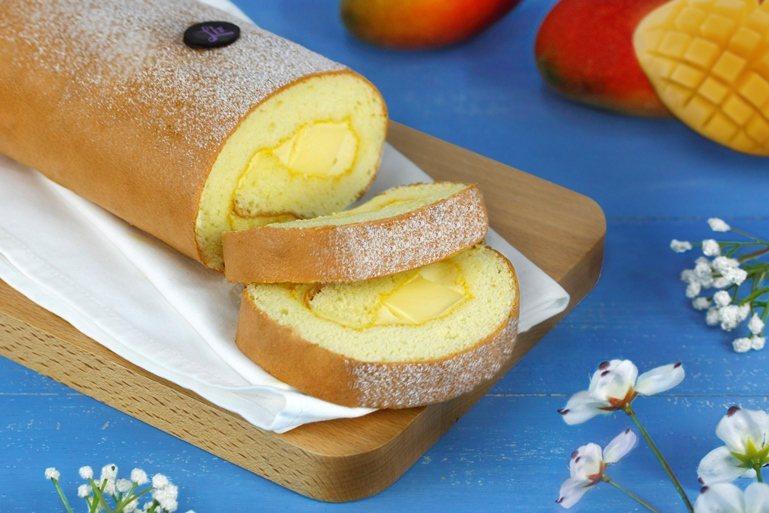 亞都麗緻飯店首度推出期間限定芒果季,包含香芒奶凍捲等6種口味。圖/亞都麗緻飯店提...