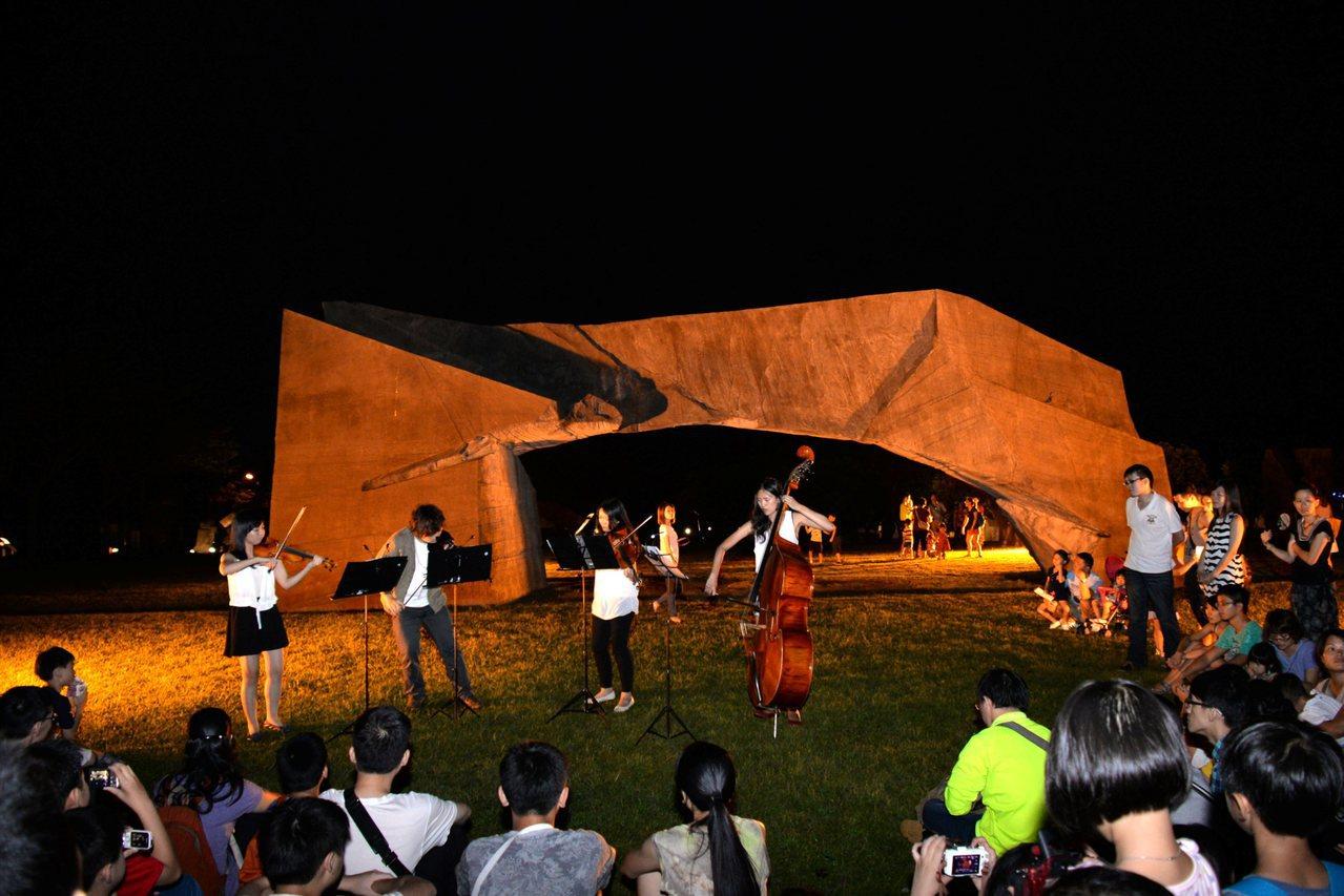 朱銘美術館星空下的音樂會。圖/朱銘美術館提供