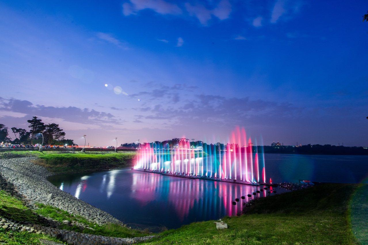 蘭潭水舞連兩年都因缺水而休演2個多月。圖/嘉市府提供