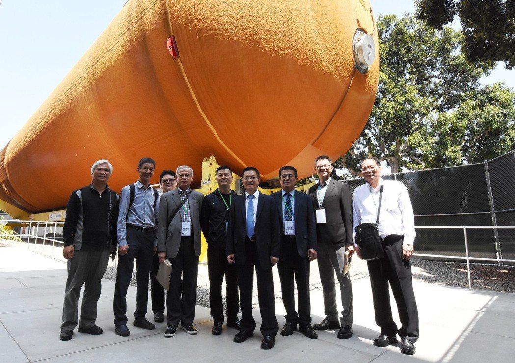彰化縣政府參訪團今天參觀洛杉磯文教機構「加州科學中心」。圖/彰化縣政府提供