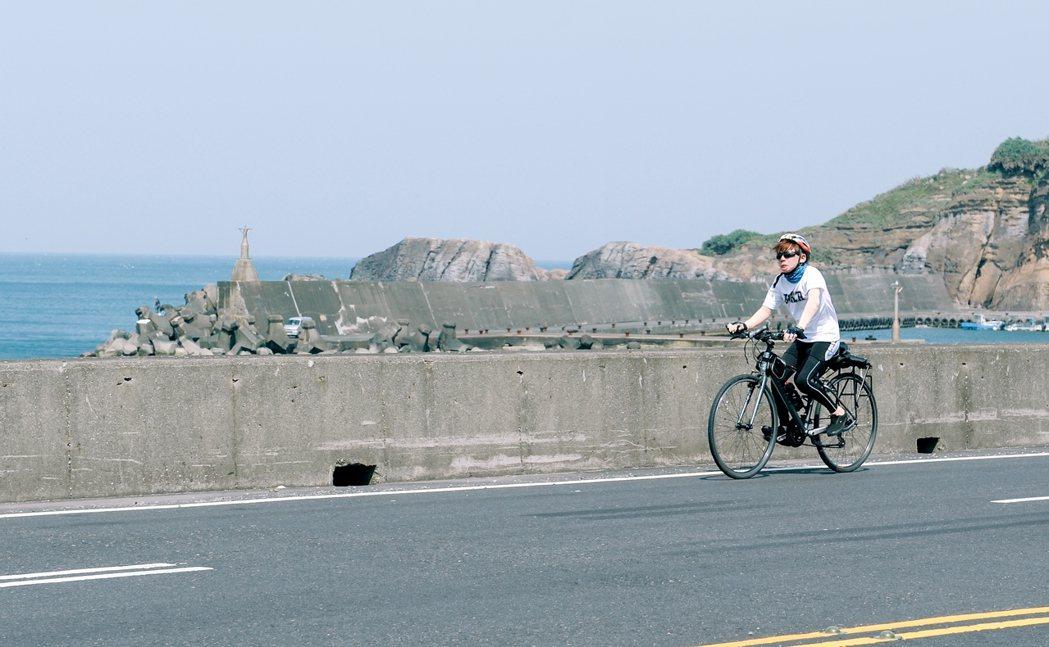 楊濡齊參加單車破風行動,3天內挑戰235公里路程,為人生留下新樂章。圖/陽光基金...