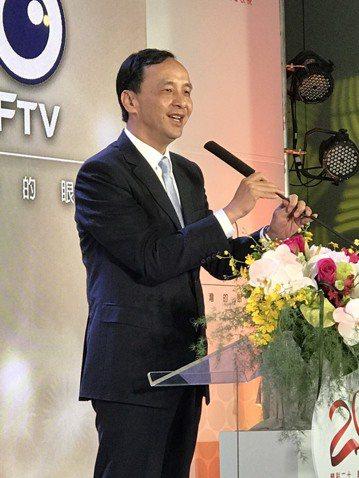 新北市長朱立倫表示最近會邀各縣市首長與立委們餐敘 。記者林麒瑋/攝影