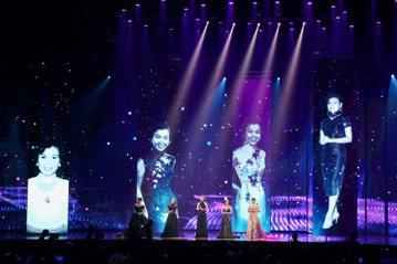 曹雅雯、鳳娘、李婭莎、黃妃、秀蘭瑪雅一同表演歌曲。