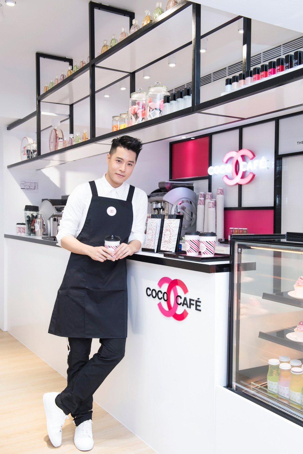 周湯豪現身COCO CAFÉ,親切化身咖啡師,為周六下午茶時光添驚喜。圖/CHA...