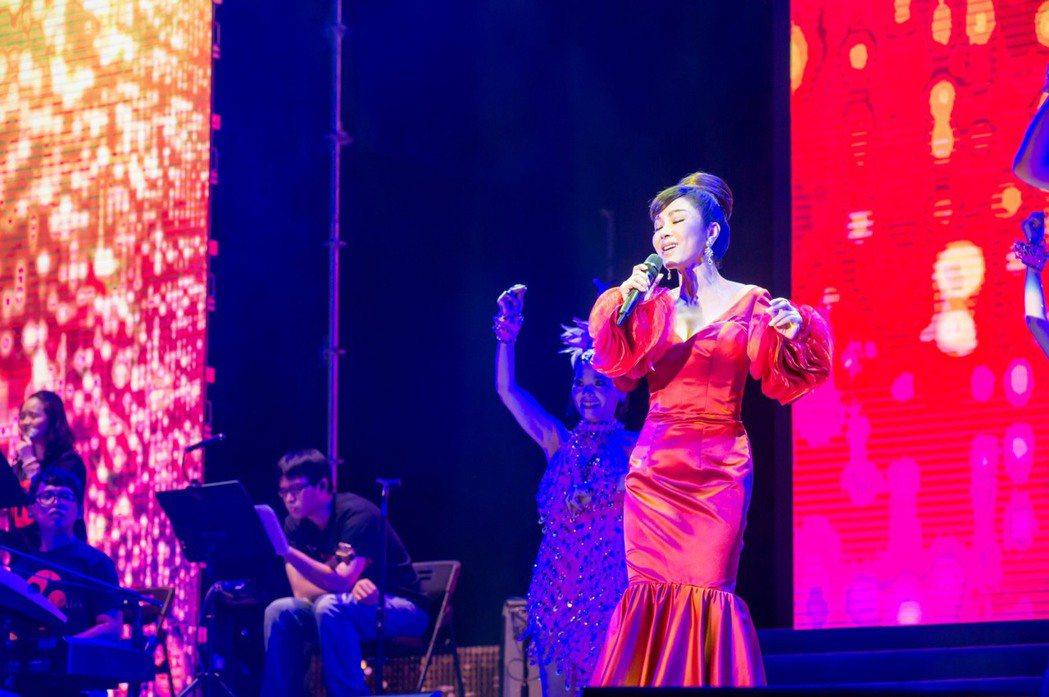 陳美鳳出席愛傳承演唱會。圖/台灣優質生命協會提供