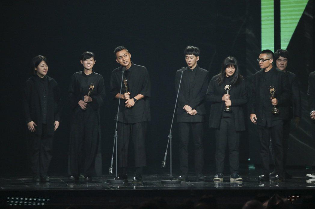 第28屆金曲獎,草東沒有派對獲得最佳樂團獎。記者陳立凱/攝影