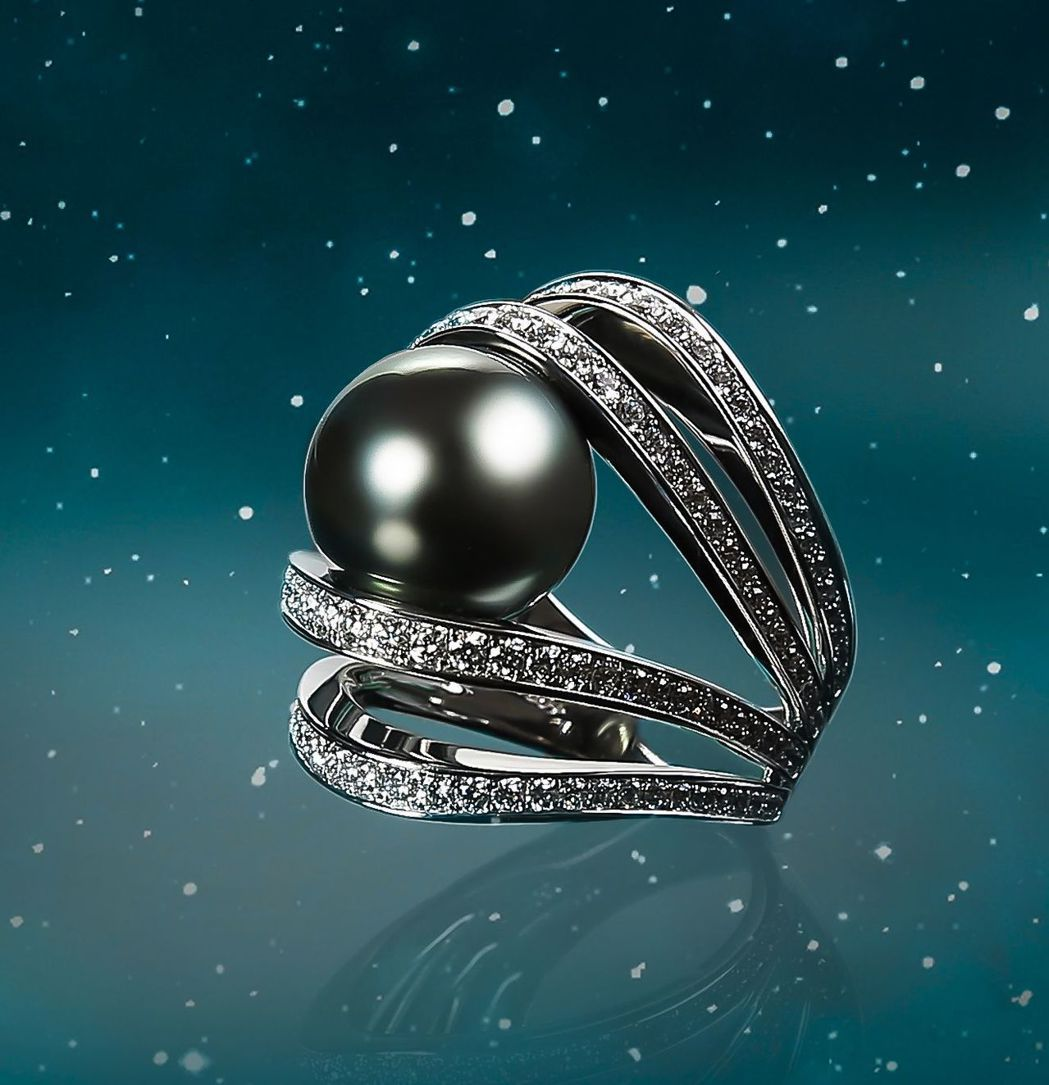 蕭敬騰配戴MIKIMOTO A World of Creativity系列《行星...