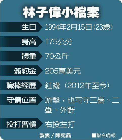 林子偉小檔案 製表/陳宛晶