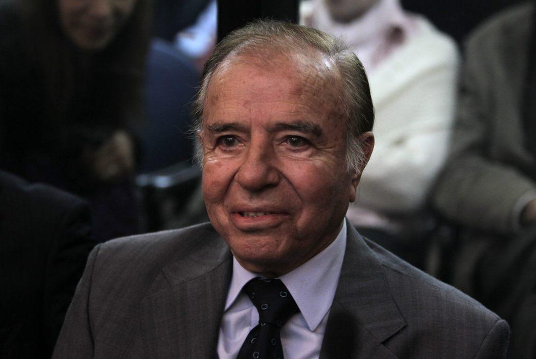 阿根廷前總統孟年(Carlos Menem)。歐新社
