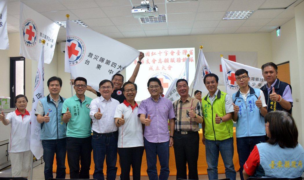 台東紅十字會提早上緊發條,25日舉辦舉辦志願服務總隊成立茶會,包括救災隊、水安服...