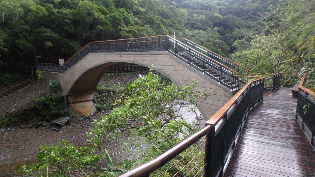 屏東雙流國家森林遊樂區瀑布區的步道和橋梁已修好,7月1日重新開放。圖/屏東林管處...