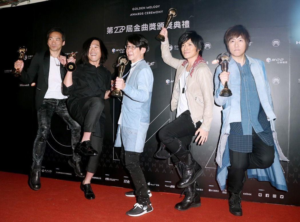 五月天獲今年金曲獎最佳國語專輯。記者黃威彬/攝影