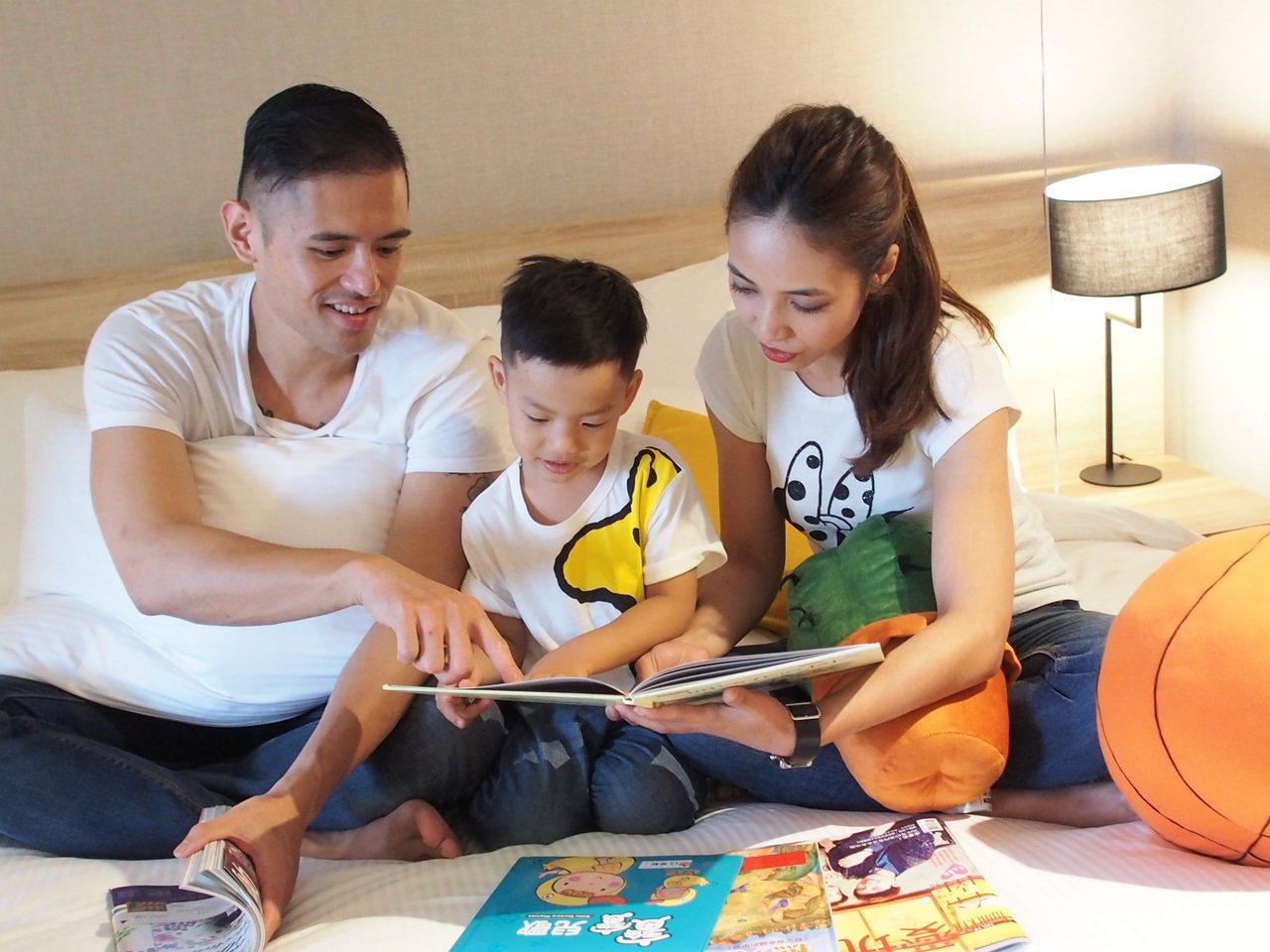 暑假不少父母,帶孩子到飯店放鬆、度假享樂。圖/竹湖暐順麗緻文旅提供
