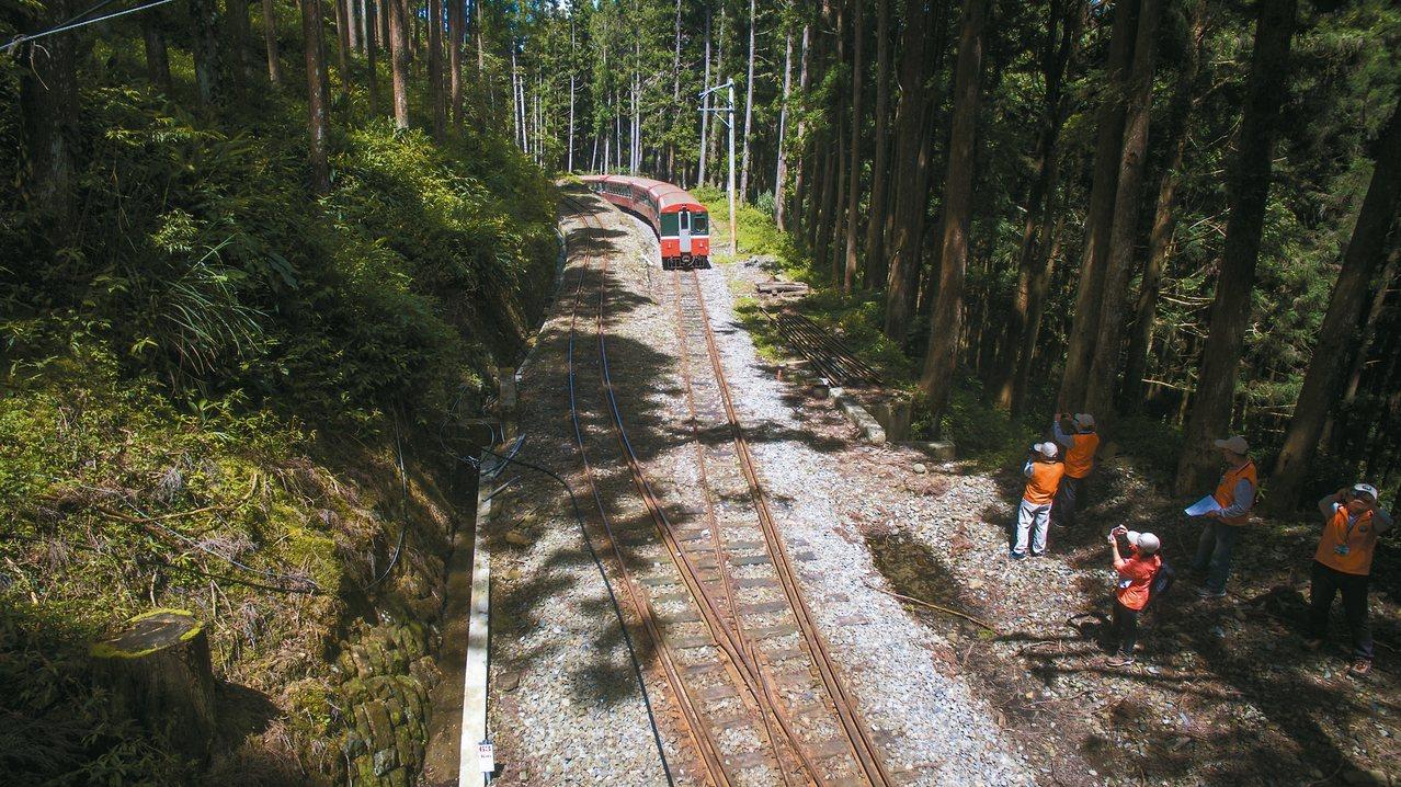 火車碰壁即是森鐵列車「之字型」上山。 圖/志工賴國華提供