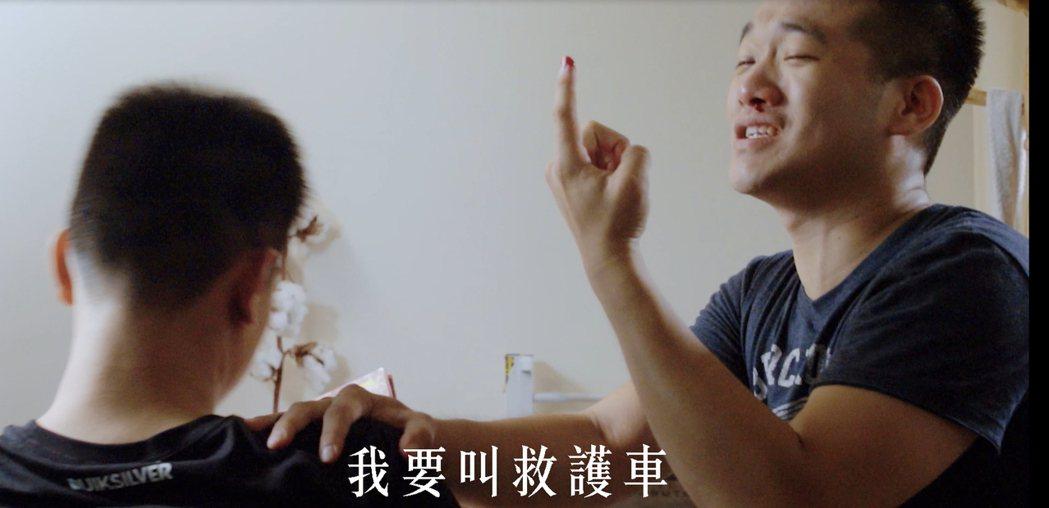 台中市消防局製作「91去哪兒」微電影,劇中指民眾因流鼻血、腳扭傷、酒醉就撥119...
