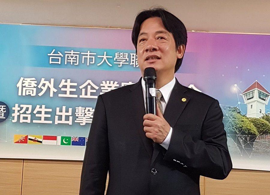 台南市長賴清德表示,親中愛台是對中國釋出善意。 記者修瑞瑩╱攝影