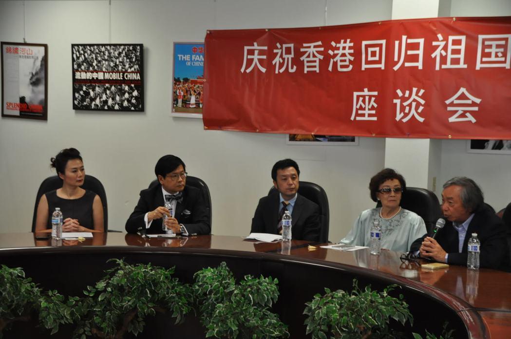 香港回歸中國20周年座談會,孫衛東(中)、林日昇(左二)、朱裕民(右一)、張素久...