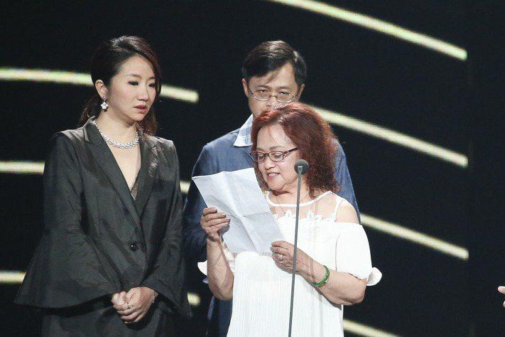 第28屆金曲獎,張雨生獲得特別貢獻獎,張媽媽代領獎項。記者陳立凱/攝影